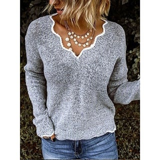 Link to Wave Collar Block Holiday Sweater Similar Items in Women's Sweaters