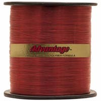 Cajun Line Red Advantage 1/4-Pound Spool with Test Fishing Line (10-Pound)
