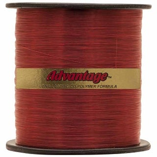 Cajun Line Red Advantage 1/4-Pound Spool with Test Fishing Line (25-Pound)