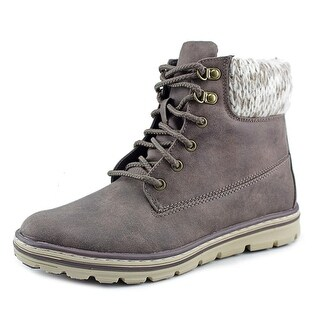 White Mountain Kansas Women Round Toe Canvas Gray Boot