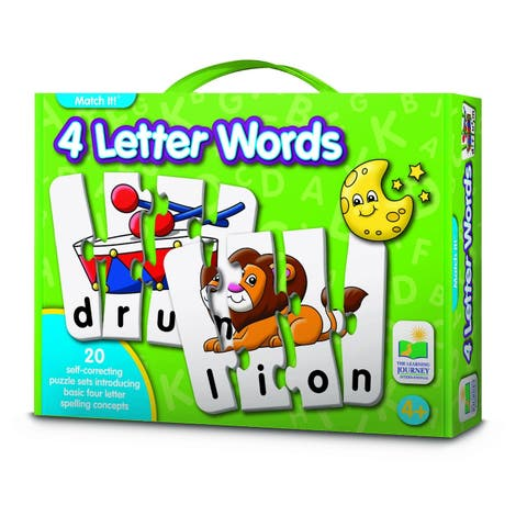 Match It 4 Letter Words Card Game (20 Piece) - multi
