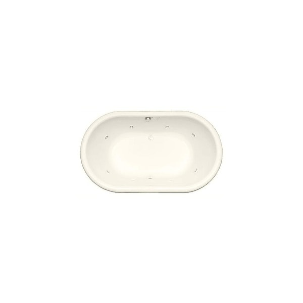 "Mirabelle MIRBRT7242V Boca Raton 71-1/2"" X 42"" Drop-In Total Massage Tub with Center Hand Drain"