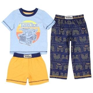 Tonka Real Tough Toddler Boys' 3-Piece Pajama Set