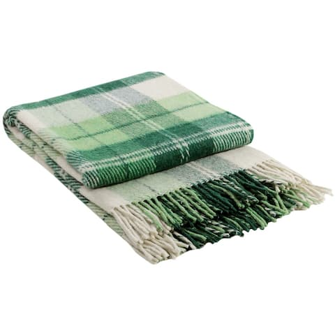STP Goods - Elf Green Tartan / Plaid New Zealand Lambswool Throw