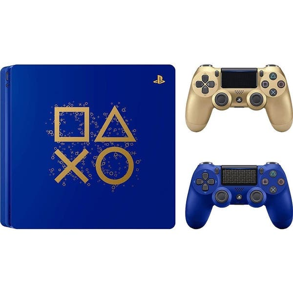 Shop Black Friday Deals On Playstation Ps4 Days Of Play Limited Edition Gaming Bundle With Dualshock 4 Wireless And Extra Gold Wireless Controller Overstock 30788239
