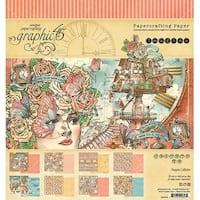 "Graphic 45 Double-Sided Paper Pad 8""X8"" 24/Pkg-Imagine, 8 Designs/3 Each"