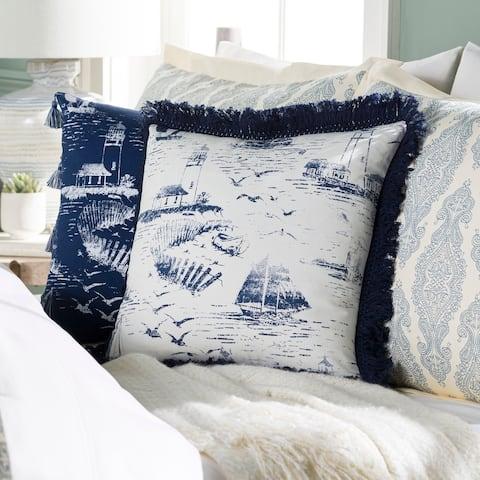 Adrie Coastal Scene Printed 22-inch Throw Pillow