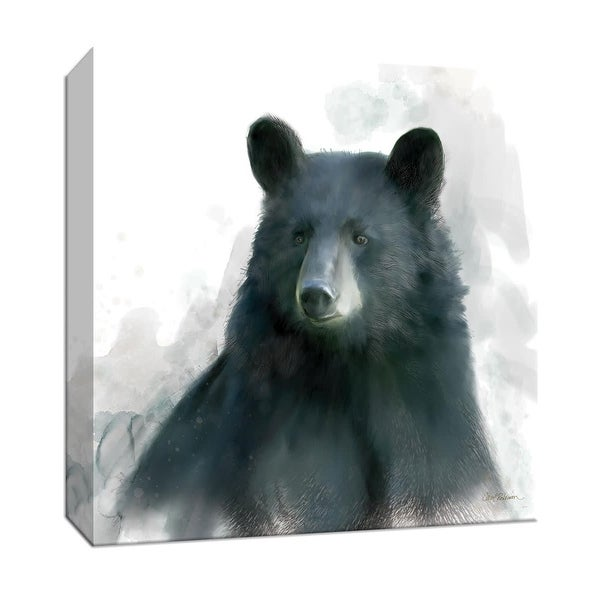 "PTM Images 9-147470 PTM Canvas Collection 12"" x 12"" - ""Rainsoft Bear"" Giclee Bears Art Print on Canvas"