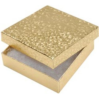 """Gold - Jewelry Boxes 3.5""""X3.5""""X.875"""" 6/Pkg"""