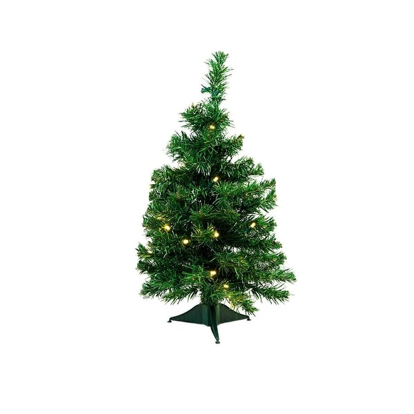 """2' x 14"""" Pre-Lit Mixed Classic Pine Medium Artificial Christmas Tree - Warm Clear LED Lights"""