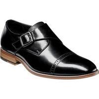Stacy Adams Men's Desmond Cap Toe Monk Strap 25162 Black Smooth Leather