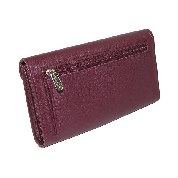 Real Leather Long Womens Clutch Ladies Wallet Checkbook Card ID Pen Holder Tan