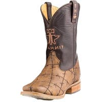 Tin Haul Western Boots Mens Barbwire Obvious Brown