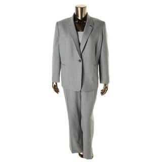 Tahari ASL Womens Plus Corey 2PC Woven Pant Suit - 16W