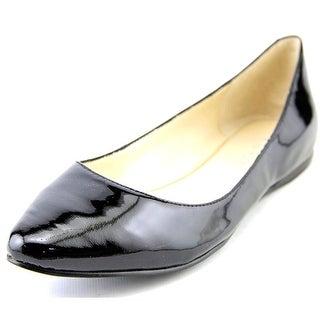 Nine West Speak Up Women Pointed Toe Patent Leather Black Flats