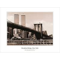 ''Brooklyn Bridge, NY'' by Ralf Uicker New York Art Print (23.625 x 31.5 in.)