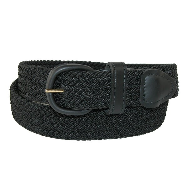 Hickory Creek Men's Elastic Braided Belt with Covered Buckle