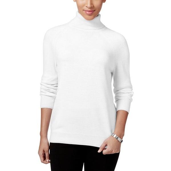 d76d699ddae Shop Karen Scott Womens Turtleneck Sweater Knit Ribbed trim - Free ...