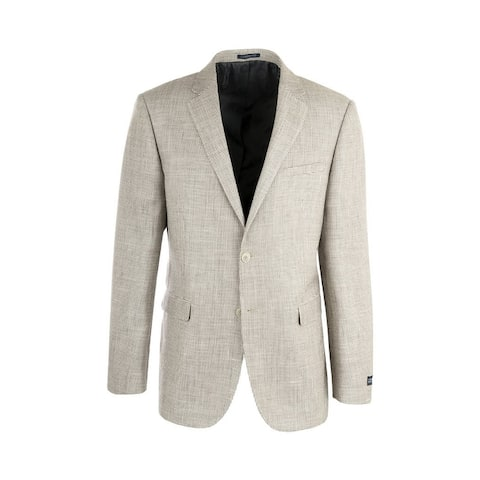 Sangria Beige Patterned Silk & Wool Jacket by Canaletto Menswear