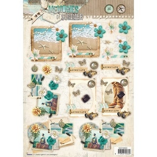 Studio Light Memories Of Summer Easy 3D Punched Sheet A4