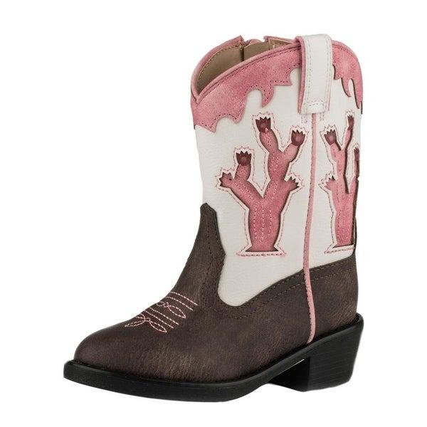 Shop Roper Western Boots Girls Desert Lights Brown Pink - Free Shipping  Today - Overstock.com - 18530322 602cf31ebf96