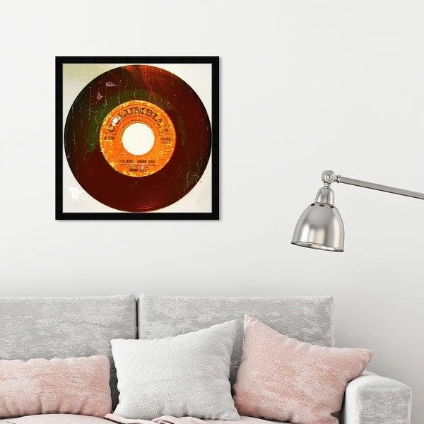 Oliver Gal 'Rebel Vinyl' Music and Dance Framed Wall Art Prints Vinyl Records - Orange, Black. Opens flyout.