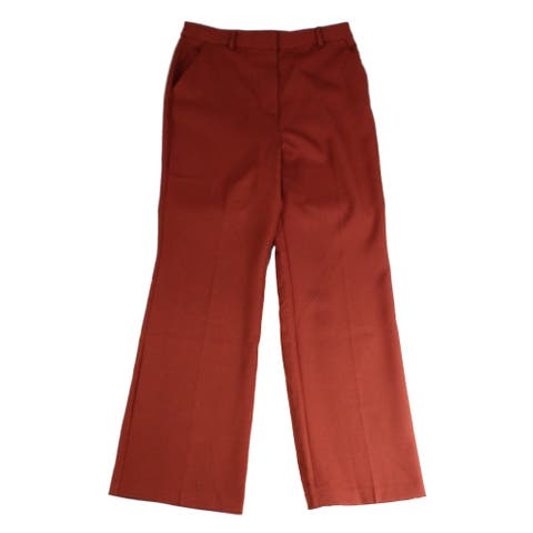 Danielle Bernstein Women's Pants Brown Size 6 Wide-Leg Straight Stretch