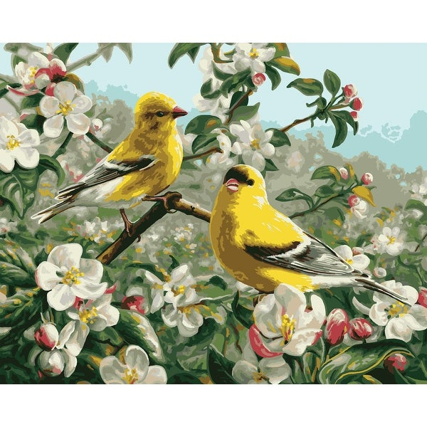 "Paint By Number Kit 16""X20""-Goldfinches - GOLD"