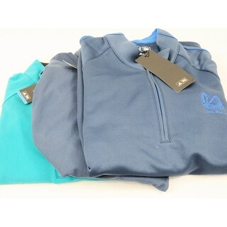 Adidas 3 Pack 1/4 Zip Pullover Medium Blue and Teal Logo Overuns Limited Edition