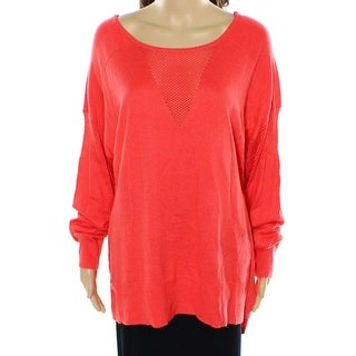 Two By Vince Camuto NEW Orange Women's Size XL Knit Boat Neck Sweater