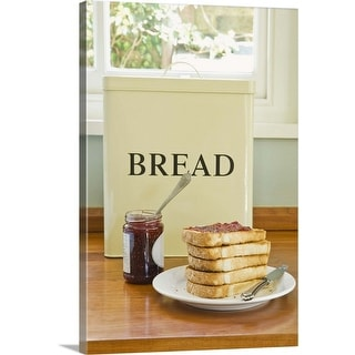 """Bread with jam"" Canvas Wall Art"
