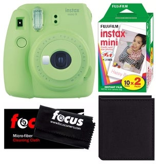 Fujifilm Instax Mini 9 (Lime Green) w/ 2 Pack Film and Accessory Bundle