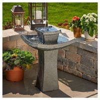 Smart Solar 34252RM1 Mahayana 2-Tier Solar-on-Demand Fountain, Iron