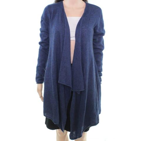 Philosophy Women's Blue Size Medium M Open Front Cardigan Cashmere