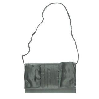 Jessica McClintock Womens Organza Bow Evening Handbag - Red - Small