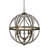 """Millennium Lighting 2285 Lakewood 5 Light 24"""" Wide Foyer Pendant with Cage Frame"""
