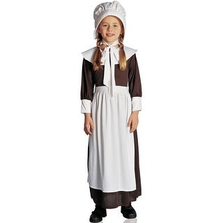 Franco Colonial Girl Child Costume - Brown/White