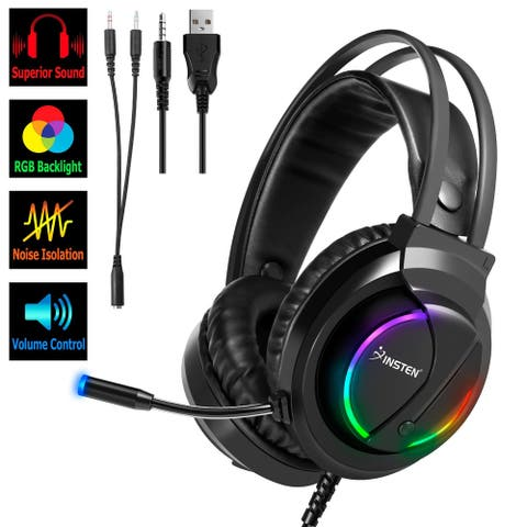 3.5mm Wired Gaming Headset Headphone with Mic for PS4 PS5 xBox Series X/S PC
