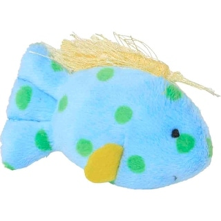 "Mulitpet Look Who's Talking Plush Toy 1.25""-Fish"