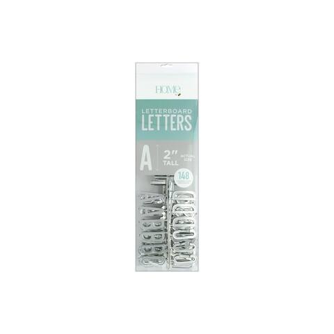 """DieCuts Letterboard Letters 2"""" Silver 148pc"""
