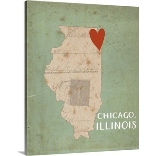 """""""Chicago"""" Canvas Wall Art"""