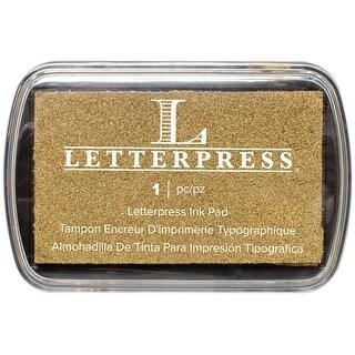 Letterpress Ink Pad-Gold