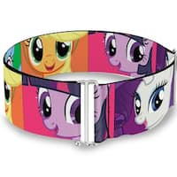 Pony Faces Close Up Blocks Pink One Size Cinch Waist Belt   ONE SIZE
