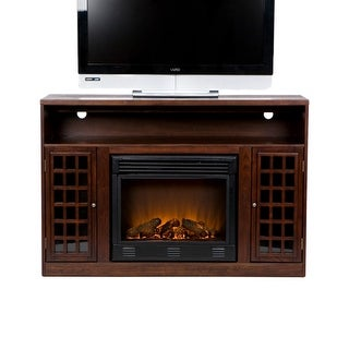Southern Enterprises FE9301 Narita Media Electric Fireplace - Espresso - Brown