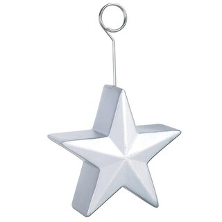 Pack of 6 Silver Awards Night Star Photo or Balloon Holder Party Decorations 6 oz.