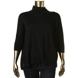 T Tahari Womens Kassidy Cotton/Wool Blend Hi-Low Turtleneck Sweater - S