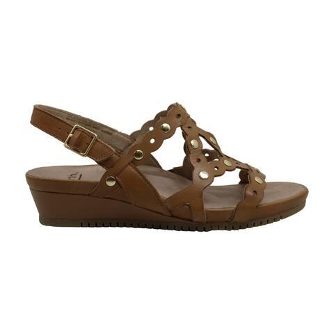 Earth Womens ficus leo Leather Peep Toe Casual T-Strap Sandals