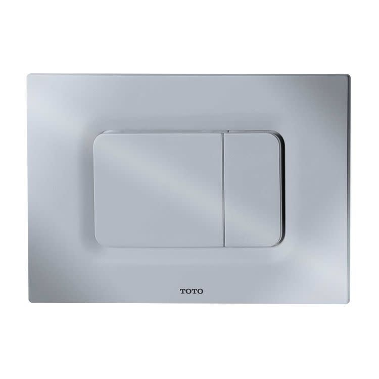Toto YT920  Dual Button Push Plate for In Wall Tank Systems (DuoFit In-Wall Tanks) (White Matte)