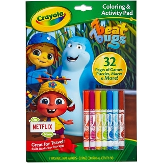 Crayola Coloring & Activity Pad W/Markers-Beat Bugs