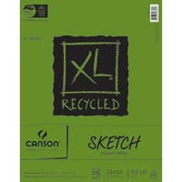 "100 Sheets - Canson Xl Recycled Sketch Paper Pad 11""X14"""